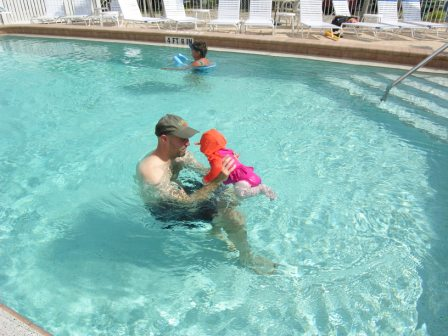 Swimming with D